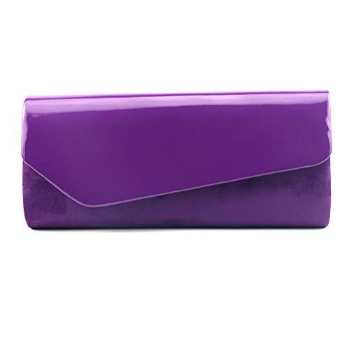 Bolso Bandolera Vintage de Mujer Bolso Bandolera Elegante con Estilo Simple (púrpura)