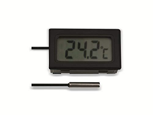 Einbau-Digitalthermometer mit 10 m Fühlerleitung, -50.+70 °C