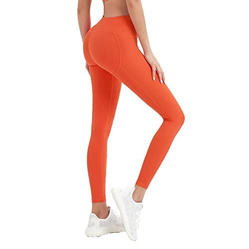 Leggins Mallas Pantalones Deportiva Niña, Pantalitas de gimnasio de control de la cordillera de la cintura alta de las mujeres Levantamiento de la culata Straight Pantalones de yoga Pantalones de ejer