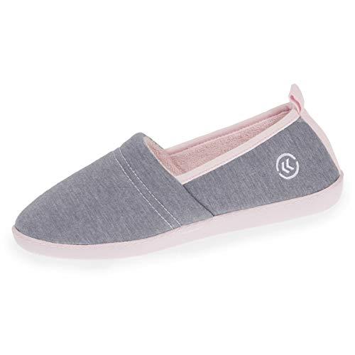 Isotoner - Zapatillas Deportivas ergonómicas para Mujer, Gris (Gris), 40 EU