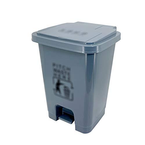 Outdoor trash can CSQ- Poubelle Grise, Poubelle en Plastique De Type à Pédale Poubelle d'affaires 15/20 / 30L pour Le Couloir du Centre Commercial De Restaurant D'appartements(Size:20L,Color:Gris)