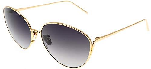 Occhiali da Sole Linda Farrow LINDA FARROW 508 YELLOW GOLD Gold/Brown Shaded 60/16/140 donna