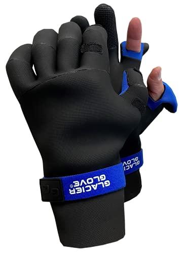 Glacier Glove Pro Angler Neoprene Glove M - Black, Model: 821BK M