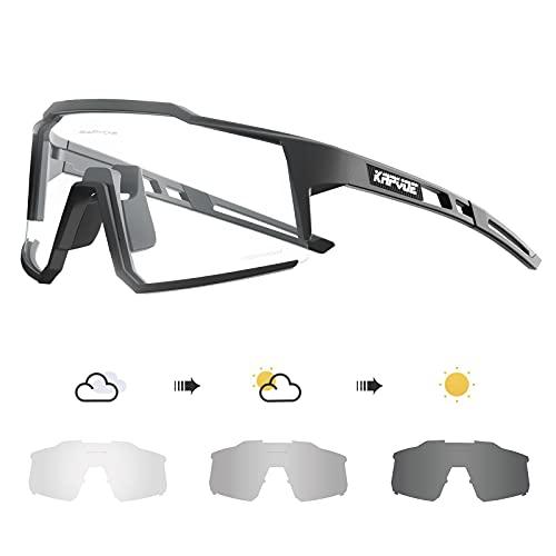 KAPVOE Gafas de Ciclismo Fotocromáticas con TR90 Gafas de Sol Deportivas Mujeres Hombres Running Transparente MTB Bicicleta Accesorios 01