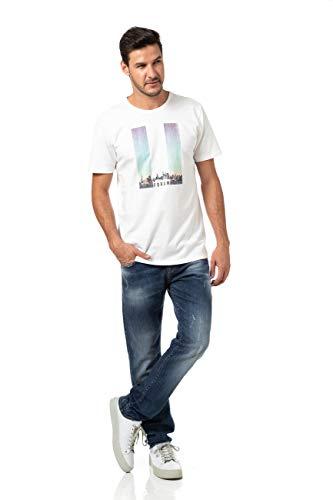 Forum Calça Jeans Paul Slim Masculino, Tam 36, Azul Indigo