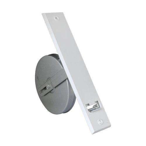 JAROLIFT Getriebe-Gurtwickler inkl. Kunststoff-Abdeckplatte, weiss/Lochabstand: 214mm