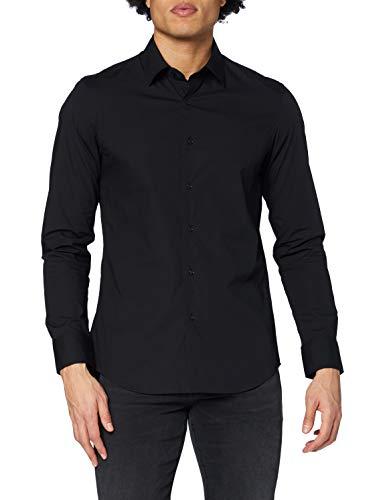 G-STAR RAW Herren Core Super Slim Shirt' Jeanshemd, Schwarz, Large