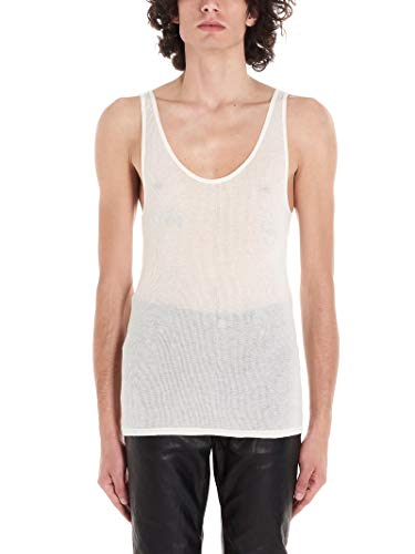 Luxury Fashion | Saint Laurent Heren 507951YB2OZ9502 Wit Katoen Tanktops | Lente-zomer 20