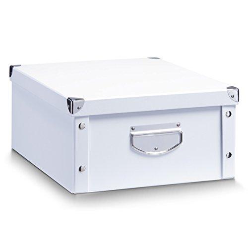 Zeller 17764 Aufbewahrungsbox, Pappe, weiß, ca. 40 x 33 x 17 cm