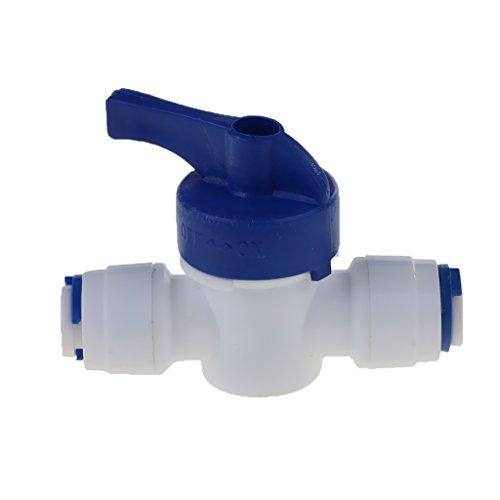 Baoblaze Válvula de Bola de Conector Rápido de Tubo de 1/4 de Pulgada para Sistema Purificador de Filtro de Agua RO