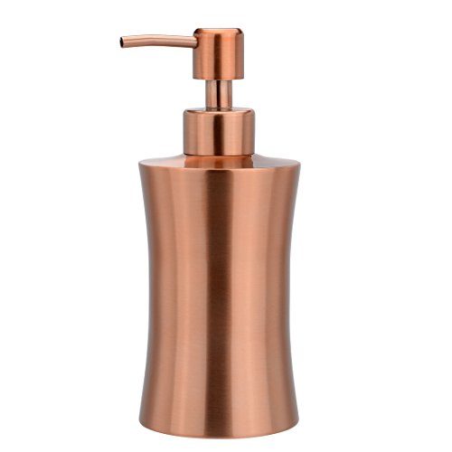 sourcing map 400 ML Salle de Bain Maison Toilette Savon Pompe Pompe Distributeur Distributeur Rose Or