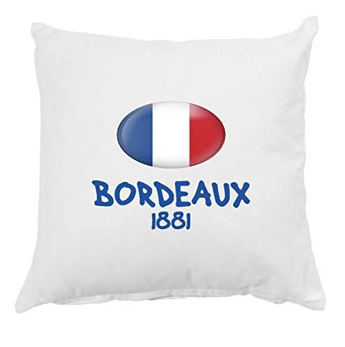Tipolitografia Ghisleri Coussin Bordeaux 1881 France avec taie d'oreiller 40 x 40 cm, lit 21 avec rembourrage en polyester doux
