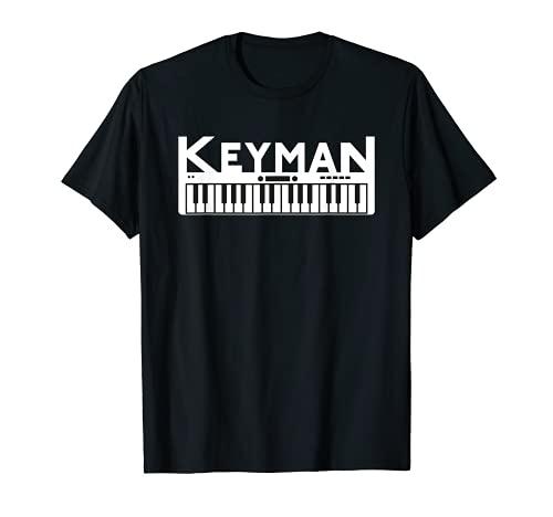 Keyboard T-Shirt Keyman / Keyboarder Musik Tshirt Herren