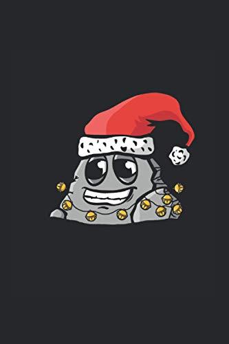 Piedra de Navidad: Cuaderno de piedra Din A5 de regalo con gorra de navidad con páginas 120