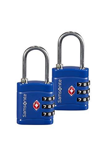 SAMSONITE Global Travel Accessories - Three Dial TSA Combi Candado para equipaje 7 centimeters 1 Azul (Midnight Blue)