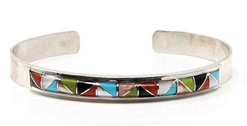 Zuni Multi-Color Channel Inlay Bracelet