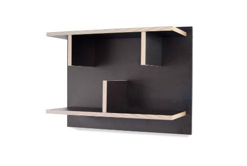 TemaHome Étagère, avec Bords en contreplaqué, Noir, 60 x 23 x 45 cm