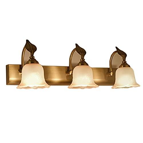 Luz De Espejo Led Faros De Espejo Minimalistas Lámpara De Pared Retro para Dormitorio Baño Tocador Gabinete (Color: Luz Cálida, Tamaño: 20 Pulgadas)