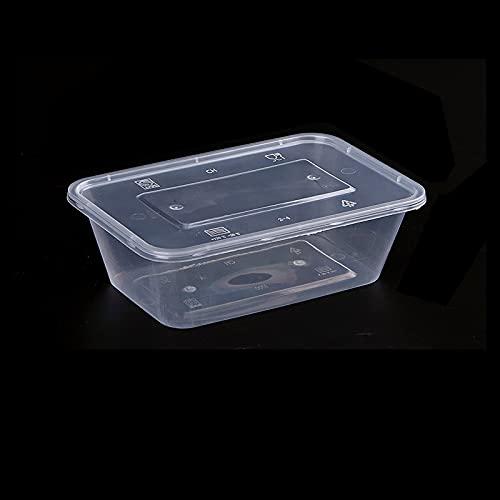 PPuujia 10 unids Contenedores de plástico Almacenamiento de Alimentos de Cocina con Tapas de refrigerador Claro Organizador Free BPA Organizador de Cocina Frigorífico (Color : 650 ml 10pcs)