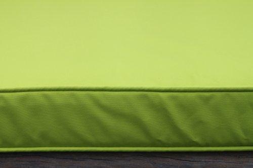 Olive Grove Gartenmöbel-Auflage - Auflage für 2-Sitzer-Gartenbank in Limettengrün