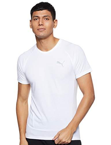 PUMA Herren EVOSTRIPE Tee T-Shirt, White, L