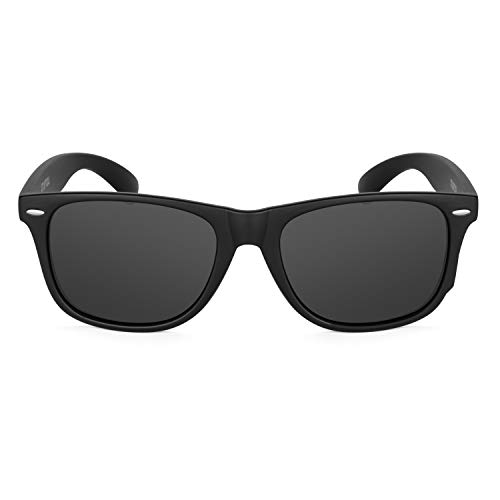 XXL Mens Extra Large Wayfinder Polarized Sunglasses for Big Wide Heads 152mm (Black, Black)