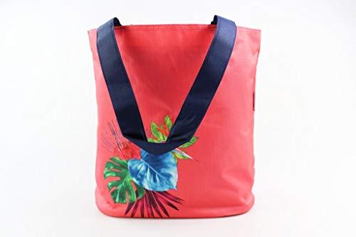 Tupperware Picknicktasche rot/dunkelblau mit Blumenmotiv