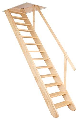 OMAN Raumspartreppen 'Classic' - Gerade Treppe aus Holz (300 x 60)