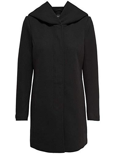 ONLY Damen Mantel Jacke Sedona Light Coat Parka Übergang Frühling (XXL, schwarz (Black))