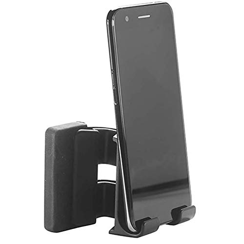 sakulala Side Mount Clip on Monitor,Adjustable Phone Stand Holder Dual Monitor Display Clip for office or home