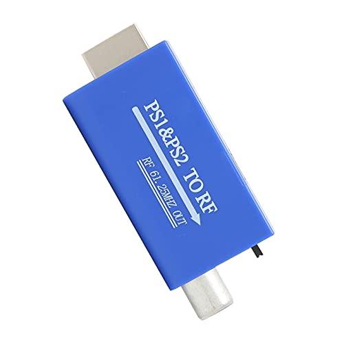 Adaptador PS1 / 2 a RF Convertidor de señal de TV RF, Convertidor de PS1 / 2 a HDMI con cable de salida de audio de 3,5 mm para TV Box / Network Box / Controlador de juegos Chip de modulación RF