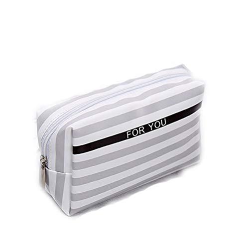 Bolso cosmético de cuero multifuncional de viaje Pu Puf Organizador pequeño de...
