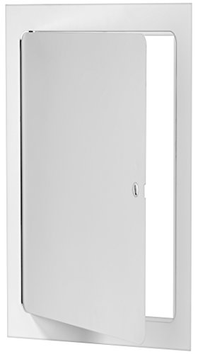 Premier 5000 Series Commercial Grade Steel Access Door, 12 x 24 Flush Universal Mount, White (Screwdriver Latch)