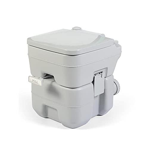 KMNN Inodoro con Descarga para Acampar, Inodoro portátil para Actividades al Aire Libre, Descarga de 5.2 galones, RV, Bote, Playa, con Orinal, para Adultos y niños