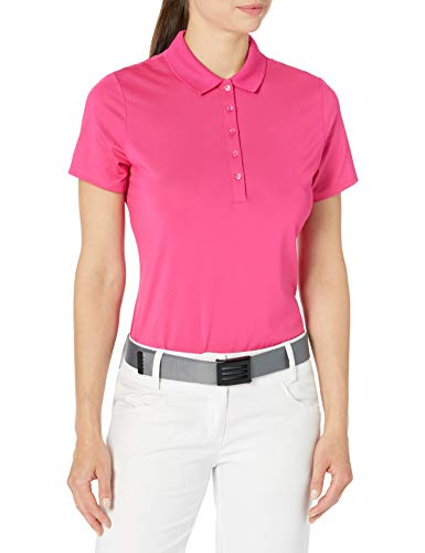 Callaway Women's Short Sleeve Opti-Dri Stretch Solid Polo, Very Berry, XX-Large