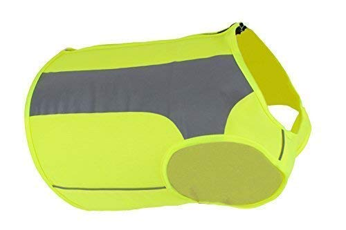 See Spot Trot - See Spot Zip EV Sport High Visibility Reflective Dog Safety Vest, Ideal to Keep Dogs Safe While Walking or Hunting. (Medium, Bright Yellow)