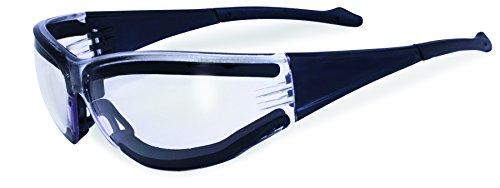 SSP Eyewear No Tears Chef Shades with Black Frames and Clear Anti-Fog Lenses, CSPASILLA CLAF