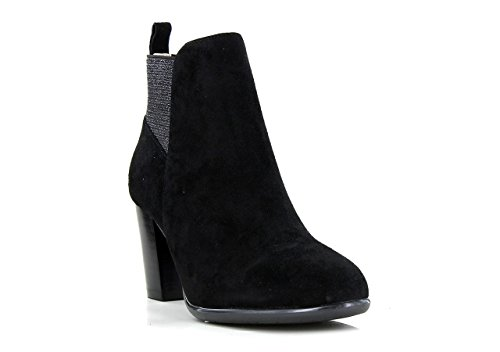 J B Martin Heeled Ankle Boot Charmel 38 BLK SUEDE