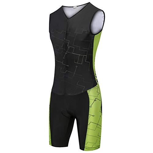 Cycling Clothing Triatlón Ciclismo Jersey Sin mangas Ciclismo Ropa Hombre Traje de piel Bike Jersey Set Triathlon Traje (Color : 6, Size : 4X-large)
