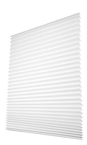 Easy-Fensterfix® – Rollo, Jalousie, Plissee – Sichtschutz aus Papier – ohne Bohren – für Fenster – Weiss – bis 121 cm