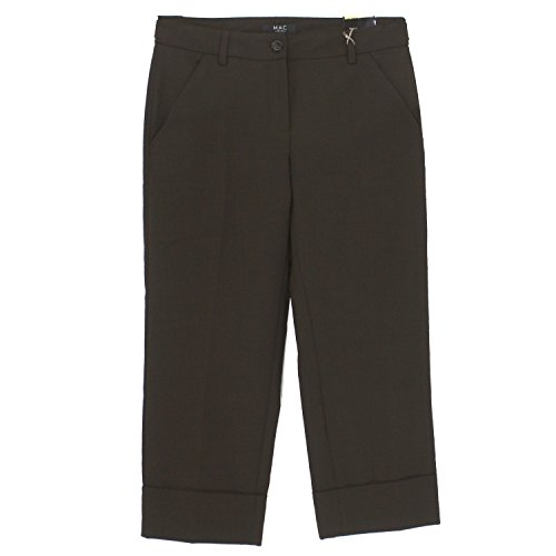 MAC, Henny, 3/4 Damen Jeans Hose, Stoffhose, Dark Chocolat Dunkelbraun, D 36 L 23 Inch 28 [16929]
