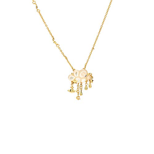 Vivienne Westwood Cloud Tassel Golden Necklace with Special Packing Box and Paper Bag