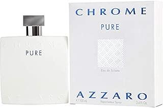 Azzȧrŏ Chrome Pure Cologne for Men 3.4oz/100mL Eau De Toilette