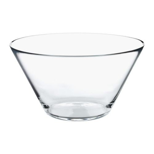 IKEA TRYGG - Serving bowl, clear glass - 28 cm
