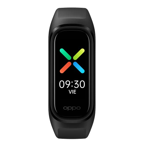 OPPO - Band Sport (Pantalla AMOLED, 12 modos deportivos, sensor óptico de frecuencia cardiaca y sensor óptico de oxígeno en sangre, 12 días de autonomía) Negro