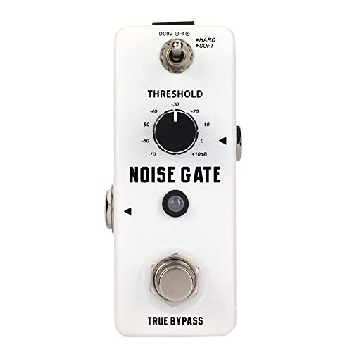 6.35mm jack Aluminum With threshold knob DC 9V true bypass Noise Gate Effect Pedal, Guitar Effect Pedal, portable for amplifier Enthusiast player Guitar