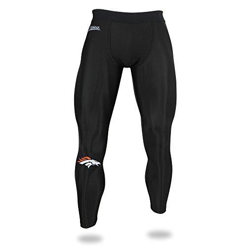 Zubaz NFL Denver Broncos Stecker NFL Leggings, Schwarze, X-Large