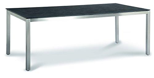 Best Marbella 210x100 cm, Edelstahl/Ardesia Tisch, 100 x 210 x 76 cm