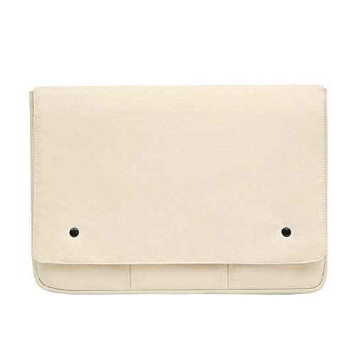 Laptop Bag Case for MacBook Air Pro 13 14 15.6 Inch Sleeve Pouch for Men Women Notebook iPad Pro Tablet Cover Coque Funda-Beige_14-inch