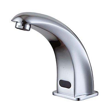 RENJZ Moderne Mittellage berühren / berührungslos with Keramisches Ventil Ein Loch Hände frei Ein Loch for Chrom , Waschbecken Wasserhahn